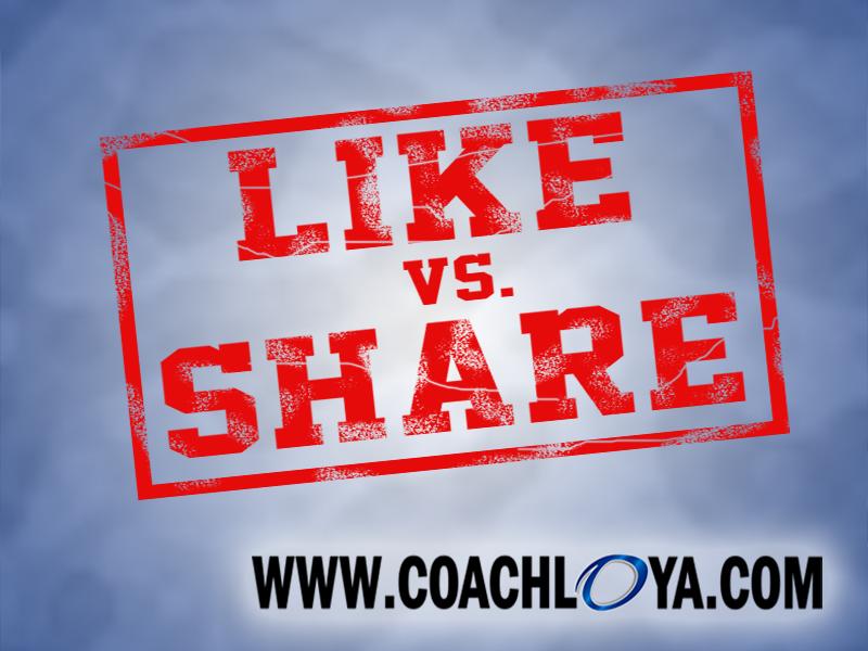 Like vs. Share