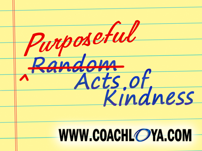 Purposeful Acts of Kindness